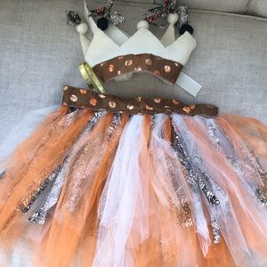 Monarch Butterfly Tutu Skirt and Crown Set